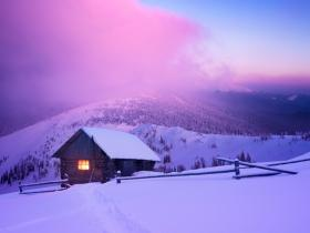 Winter Snow Mountain Chalet